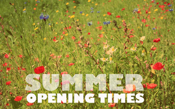 Summer opening times Front Office FASoS
