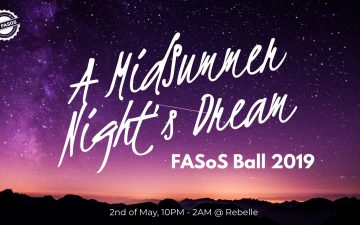FASoS Ball 2019: A Midsummer Night's Dream, on 2 May