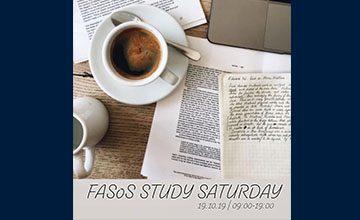 FASoS Study Saturday, on Saturday 19 October