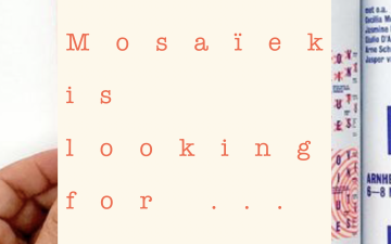 To all the creatives: submit for Mosaïek Magazine